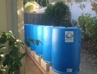 11-barrel rainwater system