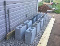 Leveled-cinder-block-foundation