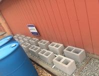 rain barrel foundation