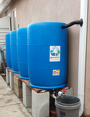 Jeffs BlueBarrel Rainwater Catchment System