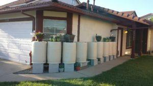 White Rain Barrels
