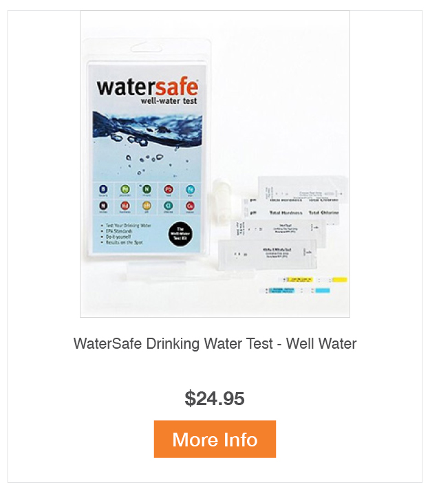 WaterSafe Drinking Water Test - Well Water
