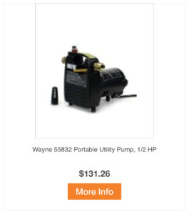 Wayne Portable Utility Pump 0.5 HP