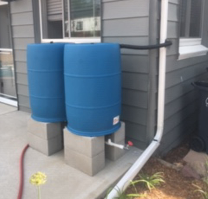 2 barrel rainwater system