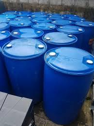 blue 55 gallon drums