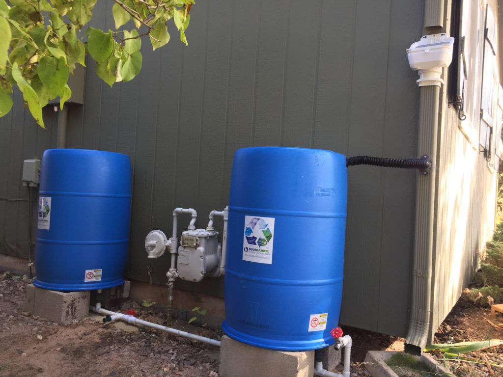 BlueBarrel rain barrel system