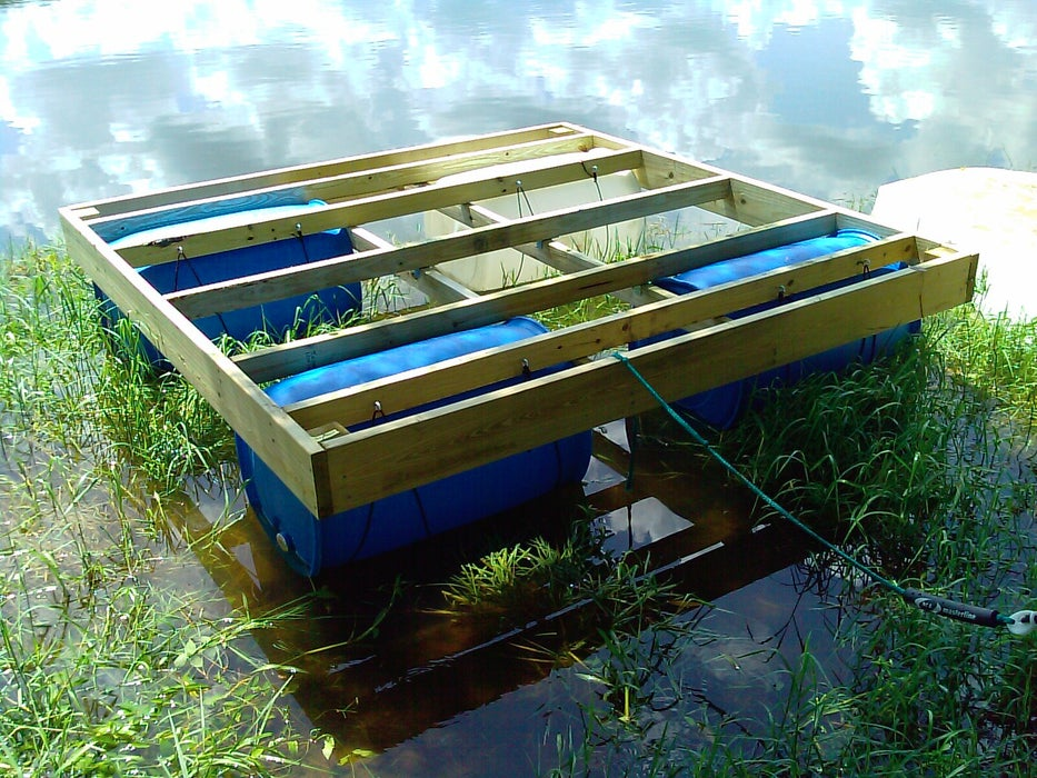 dock from 55 gallon drums