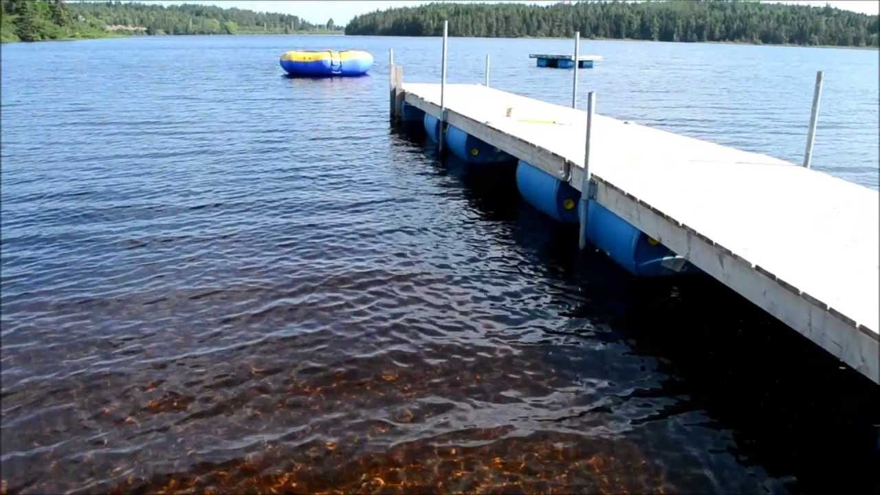 This longer dock extends far into the water. Click the image for the DIY video.